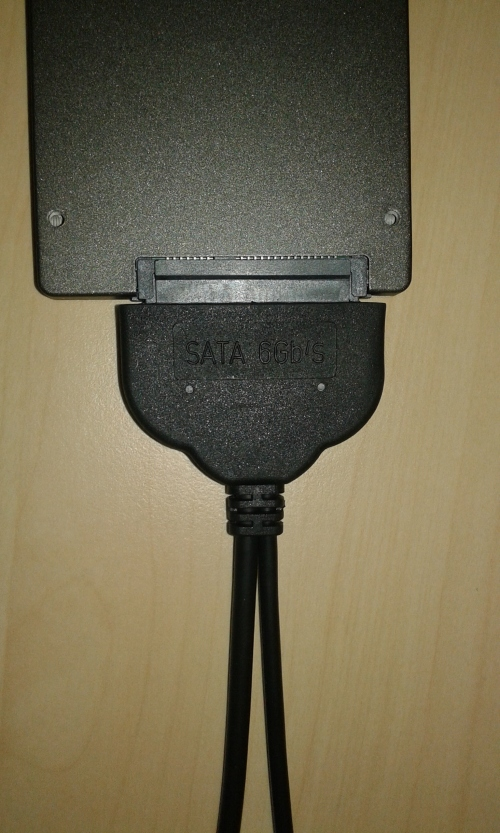 SATA 6GB/s connector with both USB 2 and USB 3 connections.